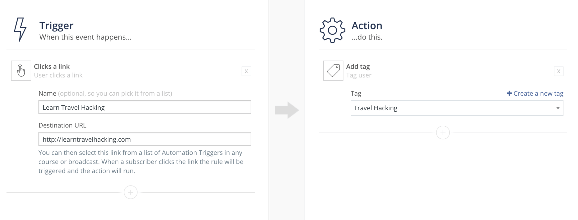 Adding events, actions or conditions to a ConvertKit automation